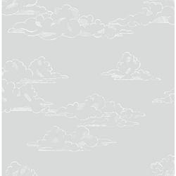Vliestapete Vintage Cloud Grey, 10 m x 53 cm grau