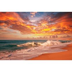 Papermoon Fototapete Sea Sunset, matt, BlueBack, 7 Bahnen, 350 x 260 cm
