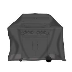 Tepro Universal Schutzhülle Abdeckhaube für Gasgrill Abdeckplane groß schwarz