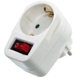 As - Schwabe 45037 Schaltbare Zwischensteckdose mit Schalter am Gerät Weiß