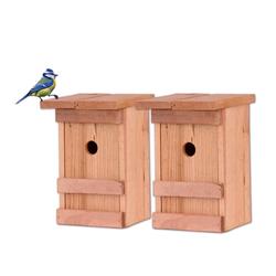 BigDean Vogelhaus 2x Meisen Meisennistkasten Vogelhäußchen Massivholz Vogelhaus 25 x 14,5 x 12 cm Einflugloch 28mm