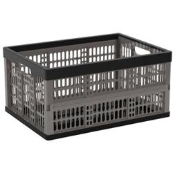 KIS Flip Box Klappbox, zusammenklappbare Box, Schwarz / Grau