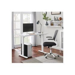 SONGMICS Schreibtisch LSD011W01, Elektrischer Schreibtisch, höhenverstellbar, Schreibtischständer, mit Motor, weiß