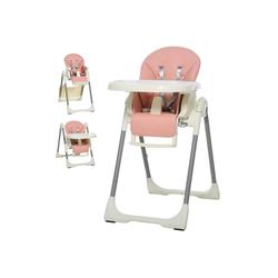 HOMCOM Hochstuhl Hochstuhl für Babys rosa