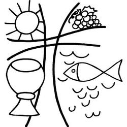 Rayher christliches Motiv Motivstempel Kelch/Fisch
