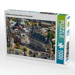 Luftbild vom Aachener Rathaus mit Innenstadt Lege-Größe 64 x 48 cm Foto-Puzzle Bild von Prime Selection Kalender Puzzle
