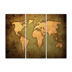 Bilderdepot24 Leinwandbild, Leinwandbild - Weltkarte 90 cm x 60 cm