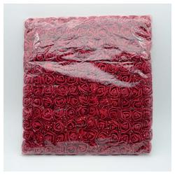 Kunstblume 144 Stück 2.5cm Schaum Künstliche Rosen Kunstblumen Blumen Kunstblume Hochzeit DIY Bär Deko, Baesset rot