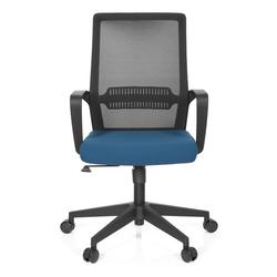 PRESTON - Home Office Bürostuhl Schwarz / Blau