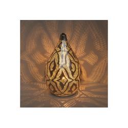 Casa Moro Nachttischlampe Orientalische Lampe Alia Zouak D20 Silber marokkanische Tischlampe aus Messing, ESL2210