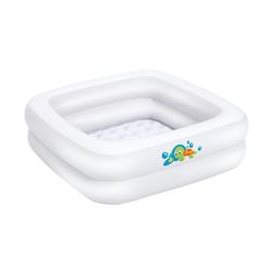 BIECO Babywanne Bieco Planschbecken Baby ca. 86x86x25 cm Aufblasbare Badewanne für Drinnen und Draußen Swimming Pool Rechteckig Kleines Planschbecken für Kinder Aufblasbarer Pool Eckig Baby Bathtub