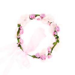 Blumen Haarband Stirnband Haarschmuck Bohemia Style Blumenhaarkranz Kopfschmuck - rosa