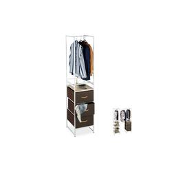 relaxdays Regalelement Regalsystem Kleiderschrank variabel 46.5 cm x 198 cm x 43 cm