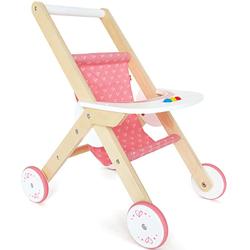Hape Puppenwagen, aus Holz rosa Kinder Puppenzubehör Puppen Puppenwagen