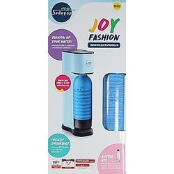 SODAPOP Wassersprudler Joy Fashion  matt white  1 PET-Flasche mit Silikon Shirt  CO2-Zylinder