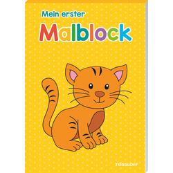 Mein erster Malblock (Katze) als Buch von