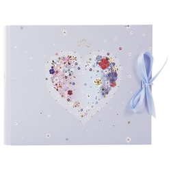 Goldbuch Gästebuch Hochzeit Hearts of Flowers   29 x 23 cm, 50 Seiten, Schleife