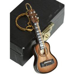 Ambiente Haus Dekofigur Schlüsselanhänger Gitarre dunkel 7cm (1 Stück)