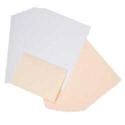 Einlegeblätter, weiß-creme, 208 x 294 mm, 50 Stück