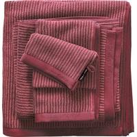 Marc O'Polo Timeless Tone Stripe Handtuch (2x50x100cm) dunkelrose/dunkelrot