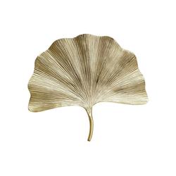 KARE Wanddekoobjekt Wandschmuck Ginkgo Leaf 44cm silberfarben