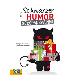 Schwarzer Humor - Geschenkpapier-Set