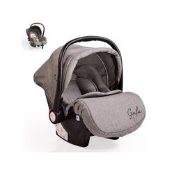 Moni Babyschale Babyschale Gala, Gruppe 0+, 3 kg, (0 - 13 kg), Sitzpolster, Fußabdeckung grau