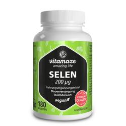 SELEN 200 µg hochdosiert vegan Tabletten 180 St