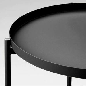 GLADOM Tabletttisch, schwarz 45x53 cm - Ein Kaffeetisch