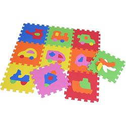 Knorrtoys® Puzzle Fahrzeuge, 10 Puzzleteile, Puzzlematte, Bodenpuzzle bunt