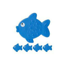 relaxdays Antirutsch-Aufkleber Antirutsch Sticker Badewanne Fisch Set, B: 12.5 cm, L: 11 cm