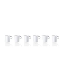 ARZBERG Geschirr-Set Henkelbecher 0.28 l - CUCINA Weiß - 6 Stück