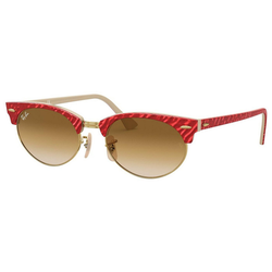 RAY BAN Sonnenbrille CLUBMASTER OVAL RB3946 rot