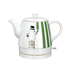 MOOMIN Wasserkocher MOOMIN 19130008 Keramik Wasserkocher by ADEXI Wasserkocher in Teekannen-Form, Mumin Design,Painting Pappa Design, 0.80 l, 1750 W