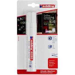 Edding 4090 4-4090-1-1049 Kreidemarker Weiß 4 mm, 15mm