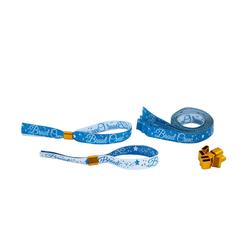 JGA Armbänder Set 1x Braut - 9x Braut Crew Junggesellinnenabschied Hen Party blau weiß