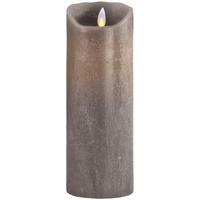 SOMPEX Flame Echtwachs Taupe Ø 8 cm