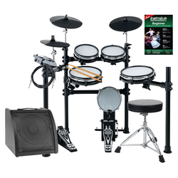 XDrum DD-530 Mesh Heads E-Drum LIVE SET mit Drum-Monitor, Hocker und Schule