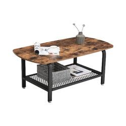 Songmics - Table basse 110 x 60 x 45 cm L x l x H vintage bout de canapé table de salon LCT10X