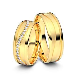 Trauringe Crailsheim 585er Gelbgold - 9509