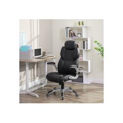 SONGMICS Chefsessel OBG65BK Bürostuhl, ergonomischer Drehstuhl, schwarz