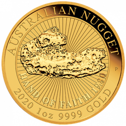 1 Unze Gold Australian Nugget Hand of Faith 2020