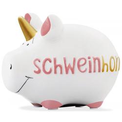 """KCG Spardose Schwein """"Schweinhorn""""weiß klein"""