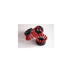 Miltex Rundbürsten für Schmutzfangmatten rot 10 Stück