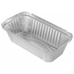 Alu-Servierschale Aluschale Grillschale  690ml, 201x109x49mm,  10 Stk.