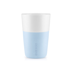 Eva Solo Becher Eva Solo 2 Cafe Latte-Becher Soft blue / hellblau 360 ml Kaffeebecher
