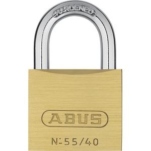 ABUS - 55/40 40mm Messing Vorhängeschloss Gleichschließend 5401 - ABUKA02868