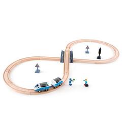 Hape E3729 - Sicherheits Set, achtförmig, Schienen, Eisenbahn, Eisenbahnwelt