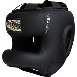 RDX T2 Kopfschutz mit Nasenschutzleiste (Größe: M, Farbe: Schwarz)