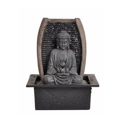 Dehner Zimmerbrunnen Zimmerbrunnen Zen-Buddha mit LED, 26 x 21 x 18 cm, 21 cm Breite